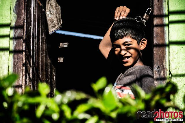 Smiling young boy, Sri Lanka