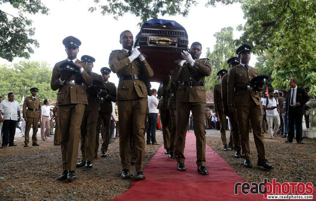 Police officer Funeral, Sri Lanka 2019