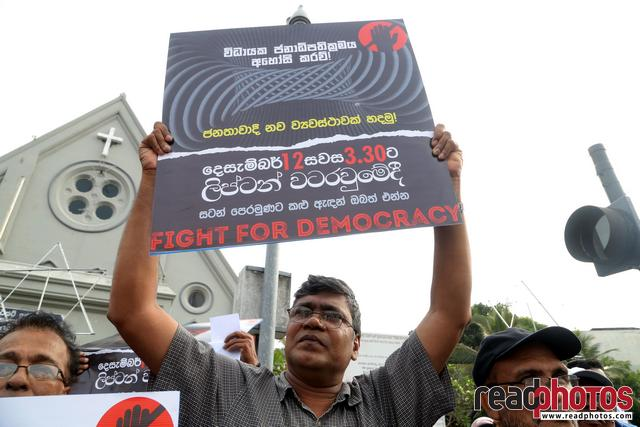 Civil society activist protest, Sri Lanka, 2018 (6)