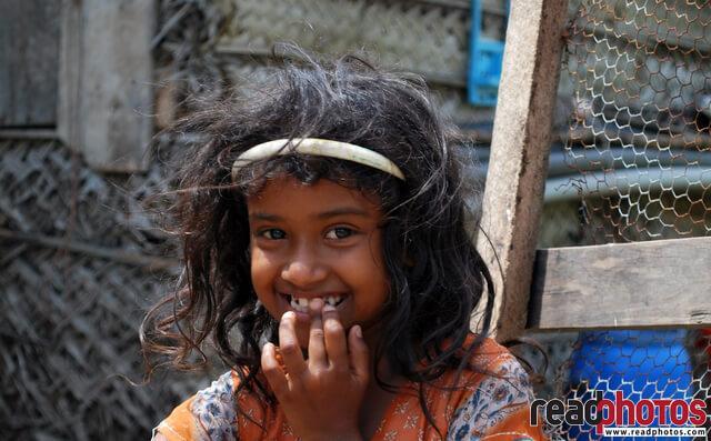 Smiling innocent girl In Sri Lanka