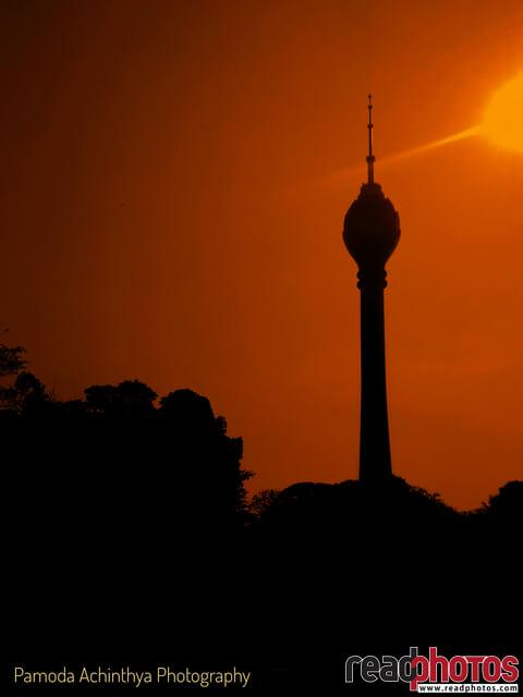 Lotus tower, evening, Sri Lanka - Read Photos