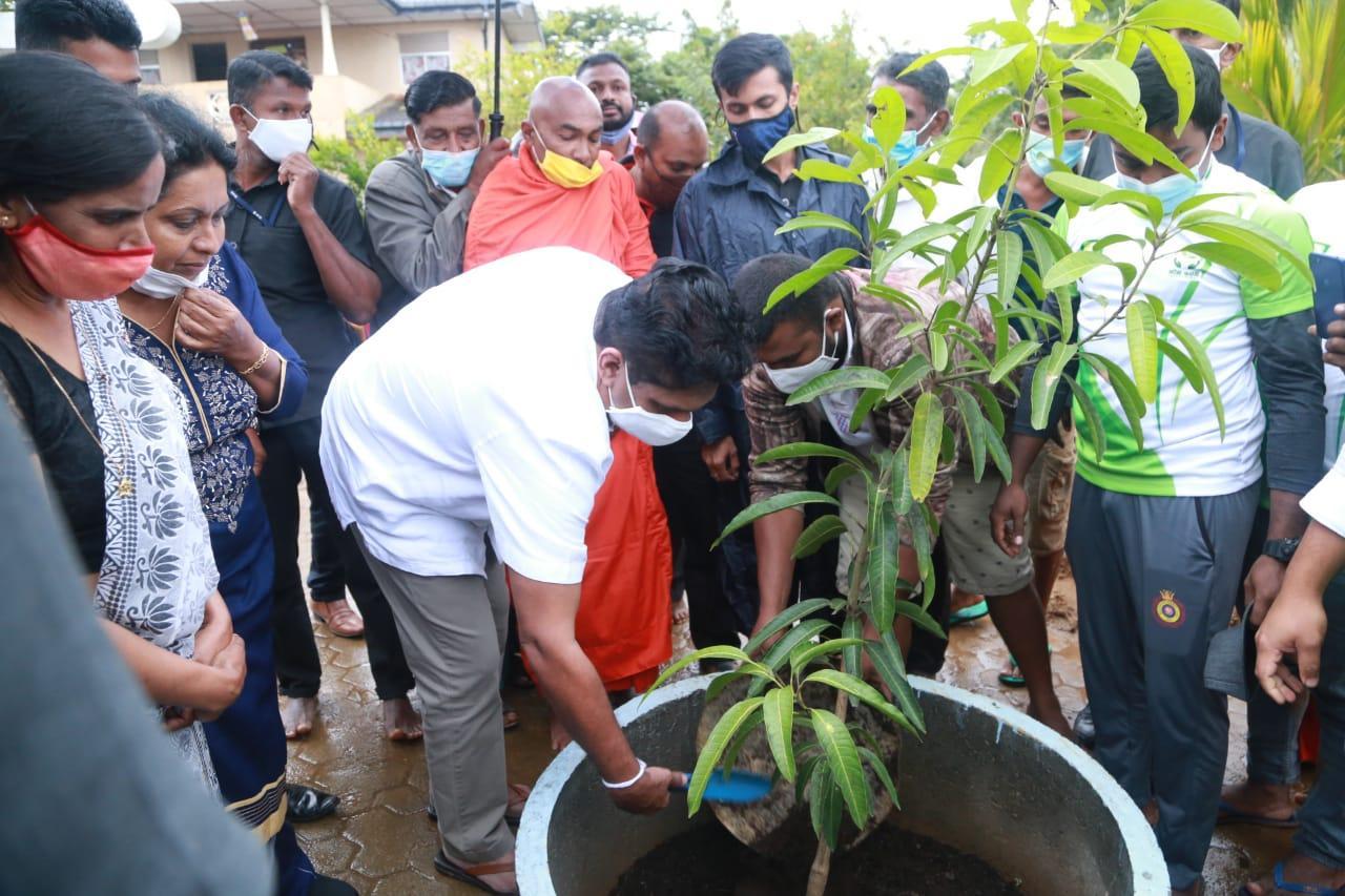 20/12/2020 Sajith Premadasa at Gammadda Janandarama Viharasthanaya