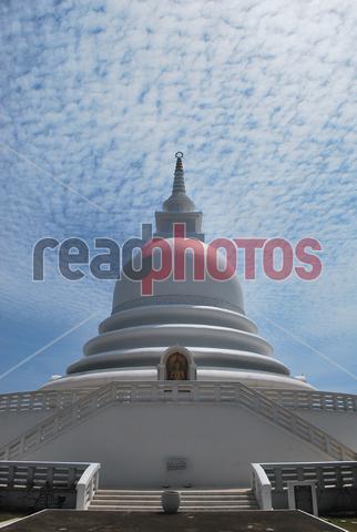 Japan peace pagoda, Unawatuna, Galle in Sri Lanka