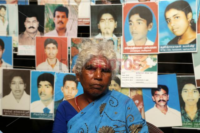 Parents of the dissapeared children in protest  Killinochchi in Sri Lanka