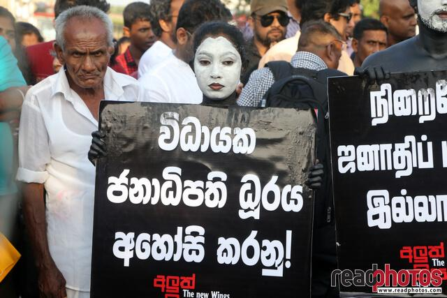 No more executive presidency– protest in Colombo Fort, Sri Lanka (6)