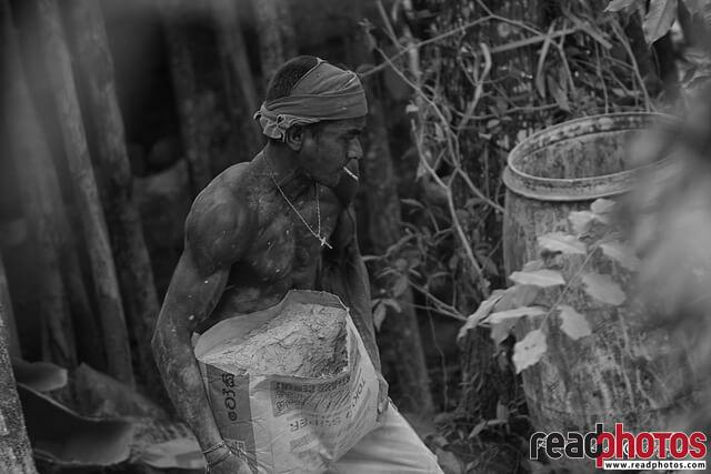 Hard working young labourer, Sri Lanka
