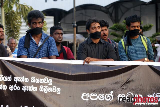 Protest against unethical media, Colombo, Sri Lanka (10) - Read Photos