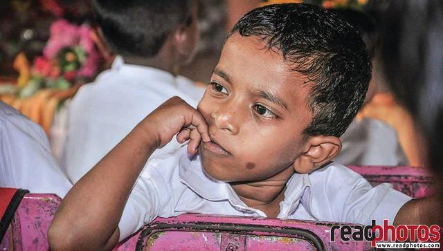 School boy in a class room, Sri Lanka