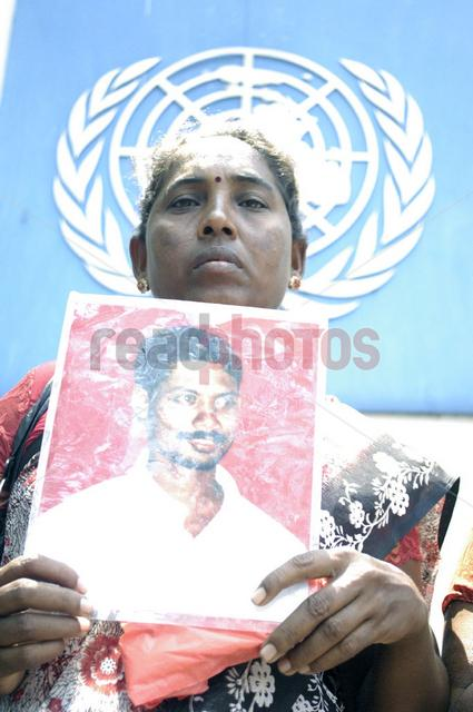 Protest for missing persons in Sri Lanka, in front of the UN Headquarters