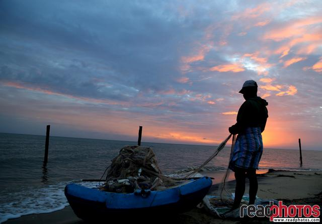 Fisherman in Mannar, Sri Lanka