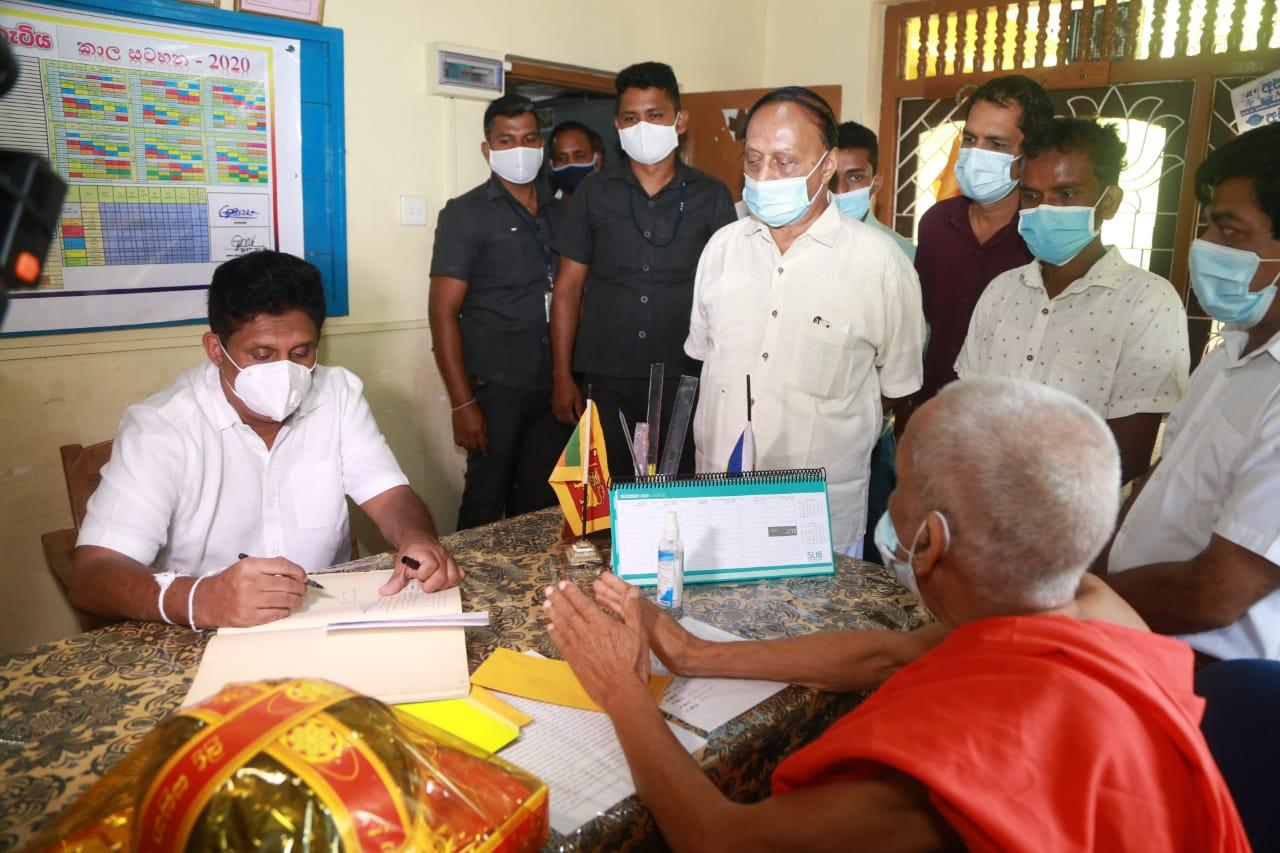 19/12/2020 Sajith Premadasa at Welugami Piriwen Rajamaha Viharaya