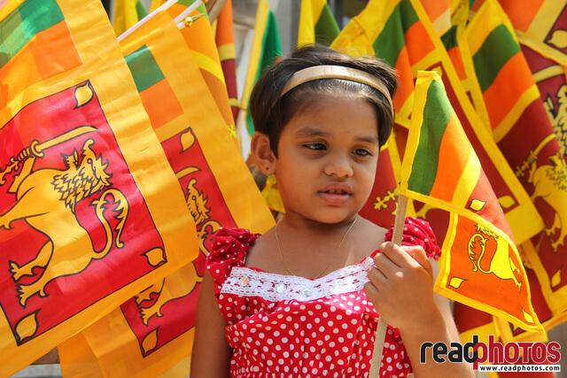 Independence day, celebration, girl, Sri Lanka