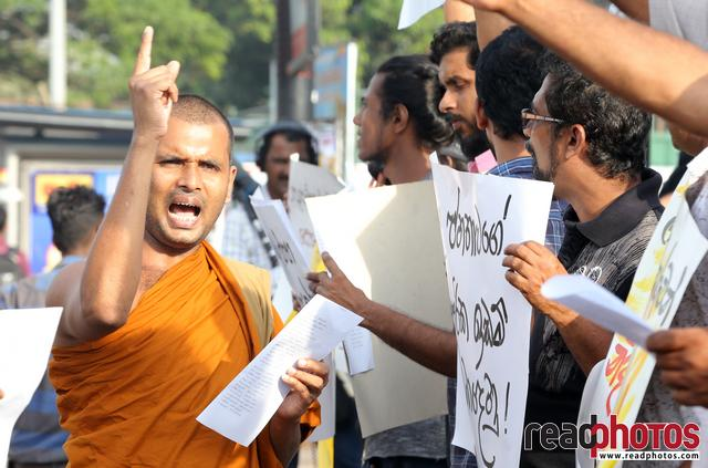 Protest at Pettah, Sri Lanka 2018 (6)