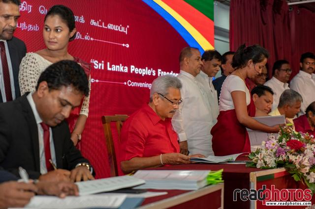 Sri Lanka Peoples Freedom Alliance, Convening of Agreement