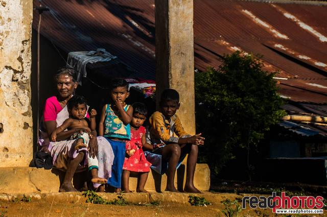 Grandmother and children, Sri Lanka (2)